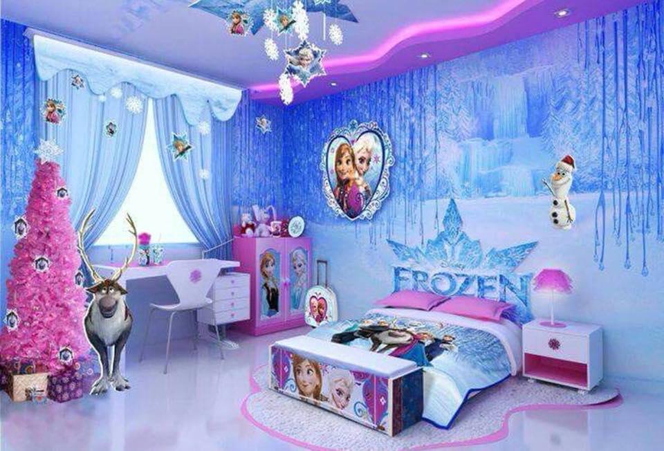 frozen themed room