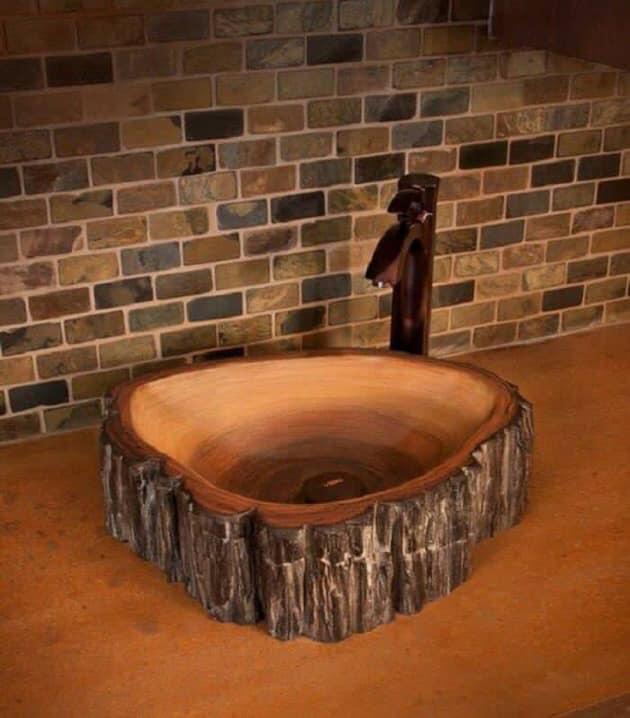 diy wooden sink