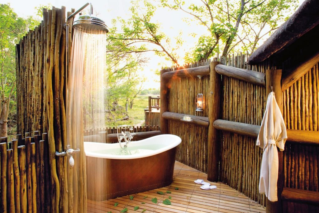 outdoor forest bath