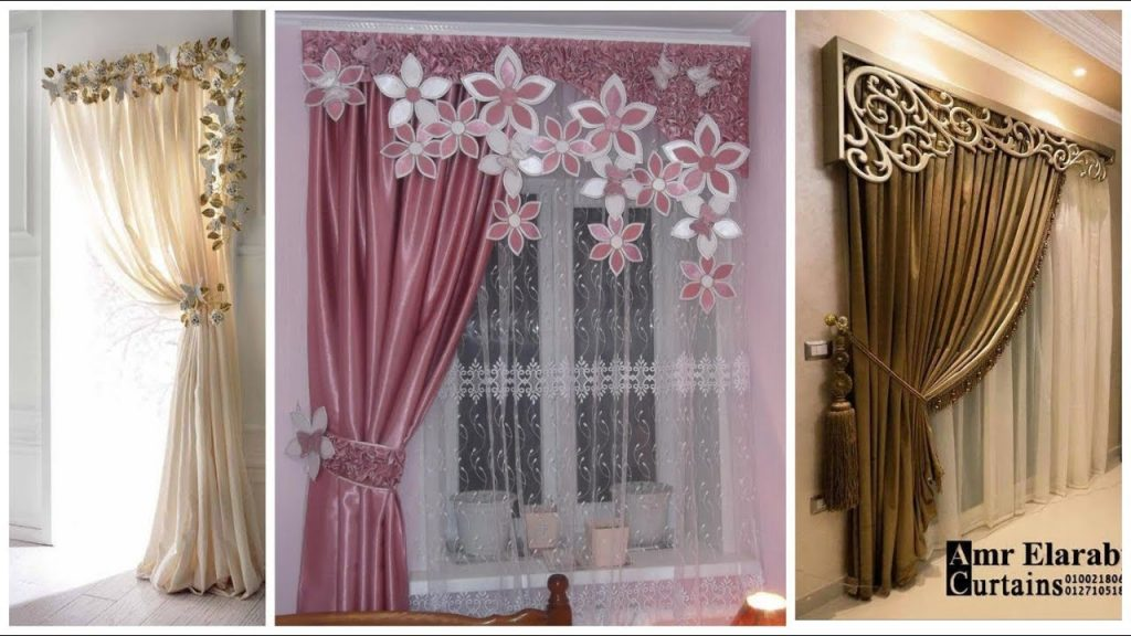 flowers on curtains