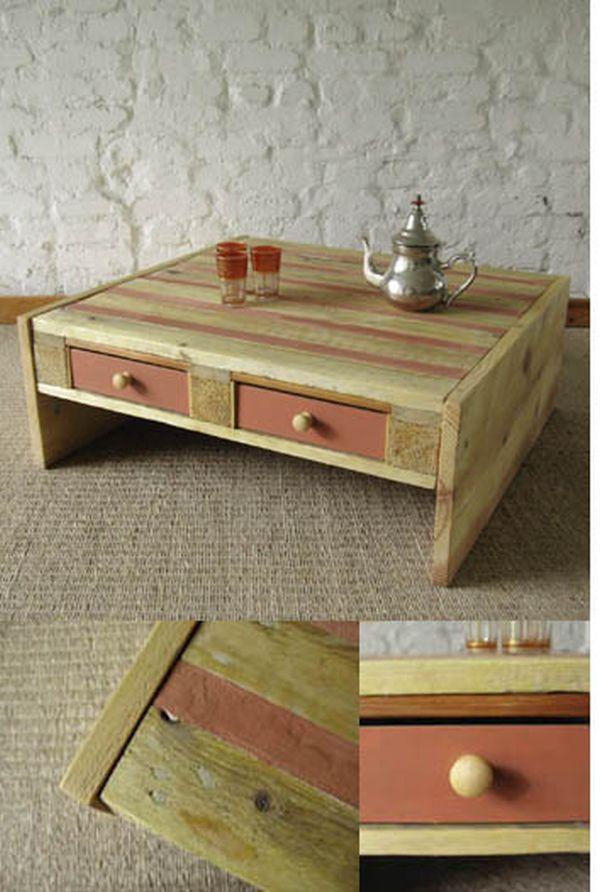 pallet table, oriental
