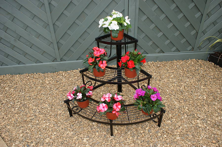 wrought iron flower pots stands