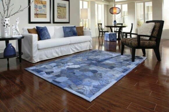 old jeans carpet