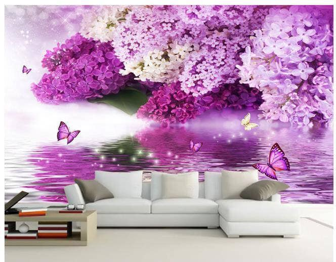 purple 3D wallpaper
