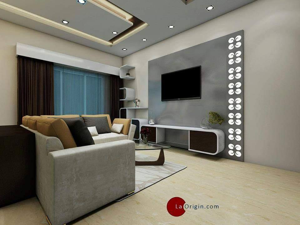 grey wall unit and light