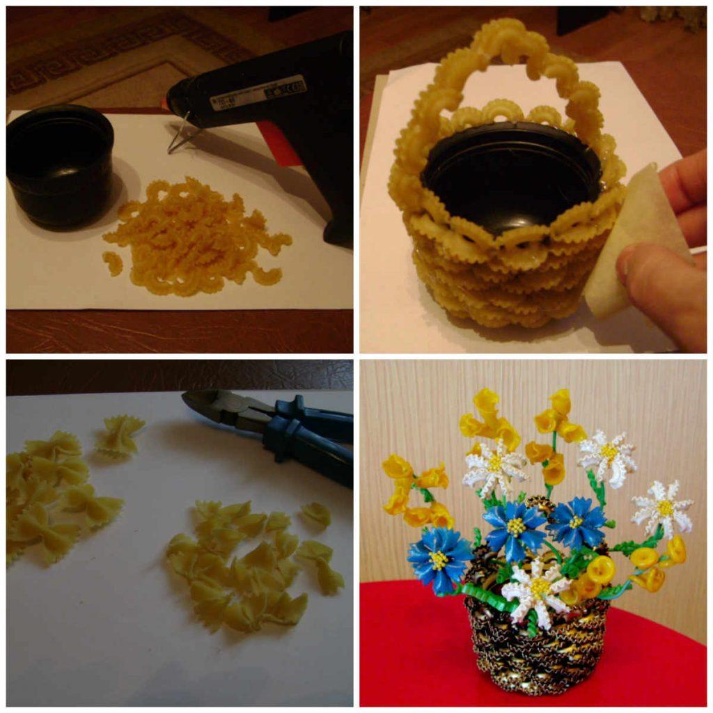 pasta flower pots