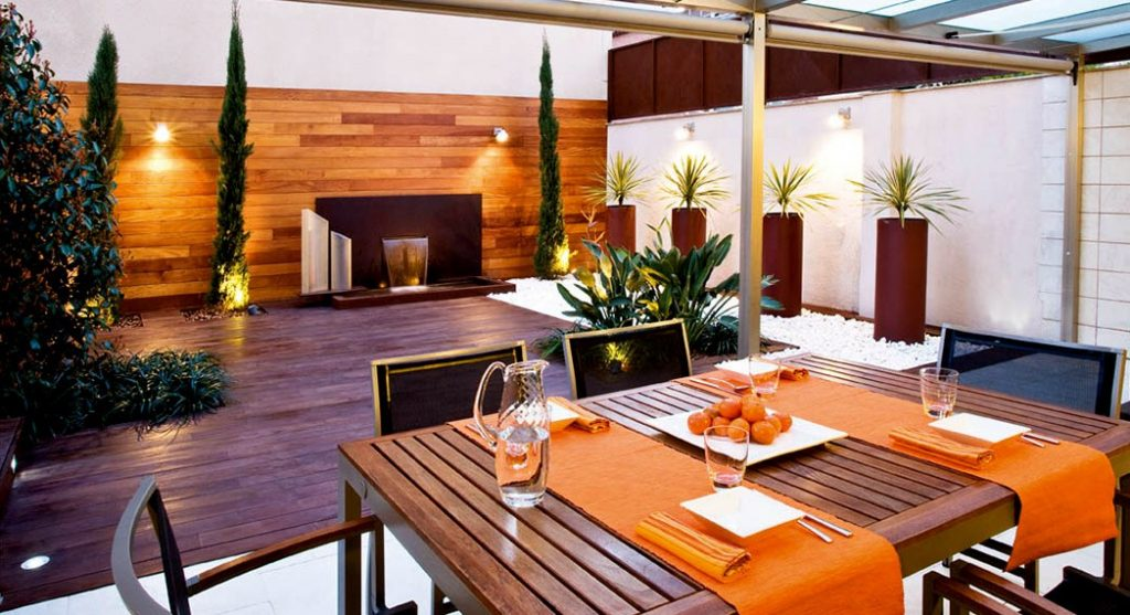 contemporary terrace look