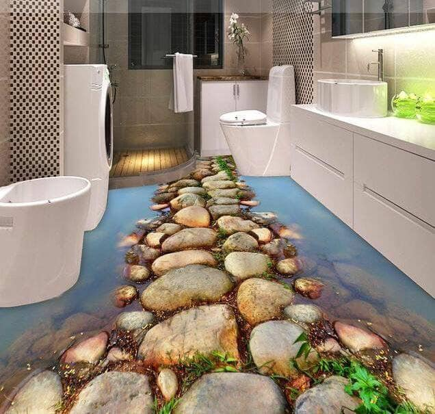 bathroom flooring in 3D