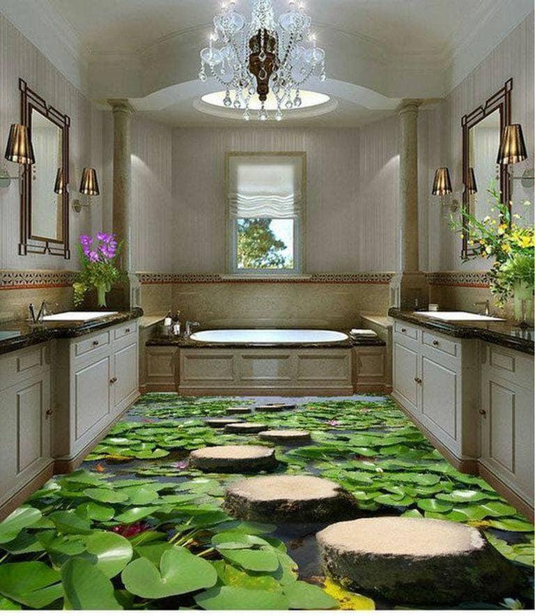 bath floor in 3D
