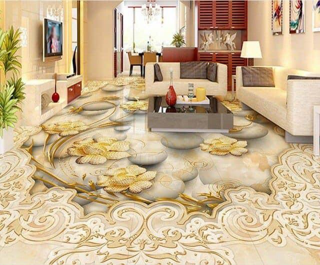3D marble floor