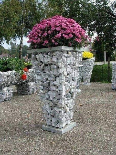 gabion flower pot