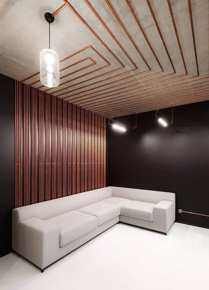 wall paneling and lighting