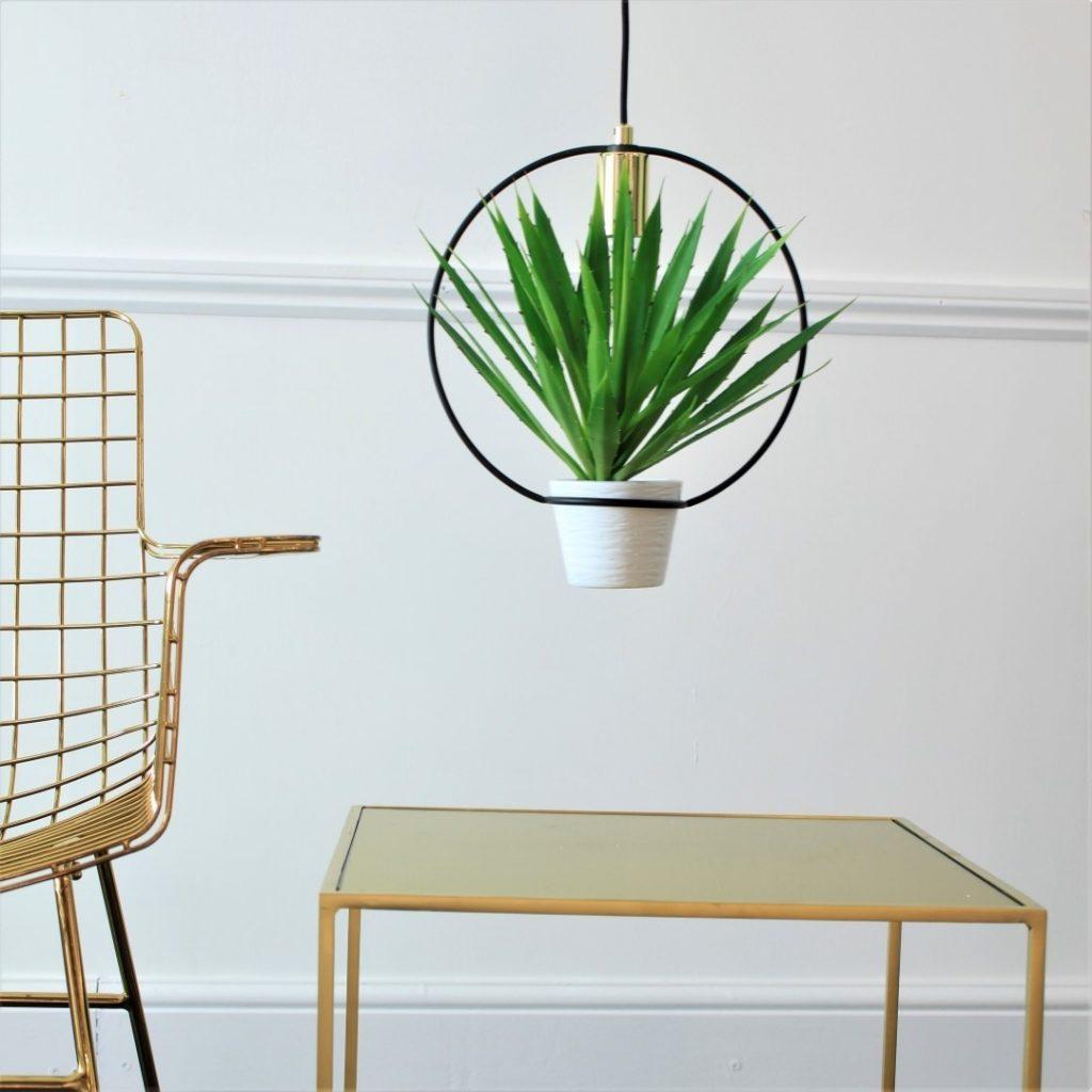 hoop planter and light