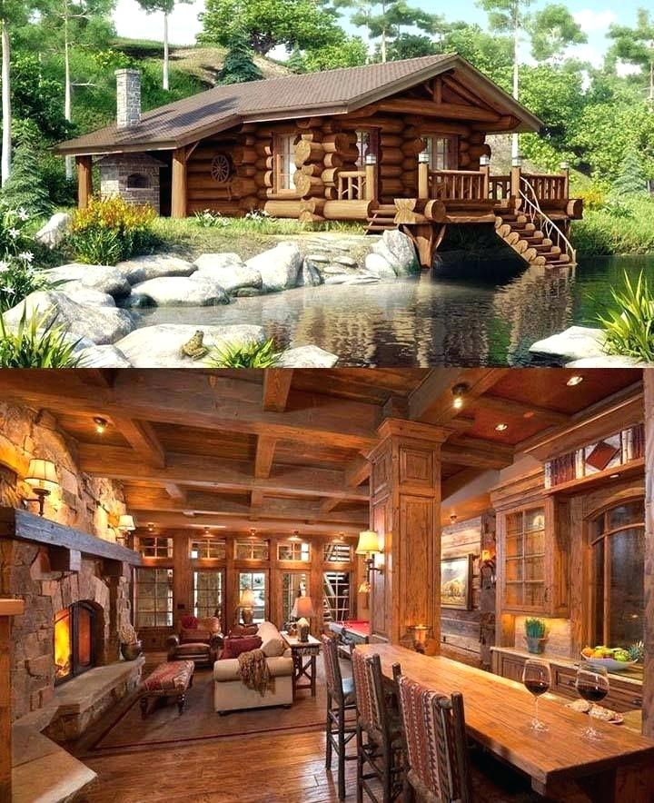wooden log houses