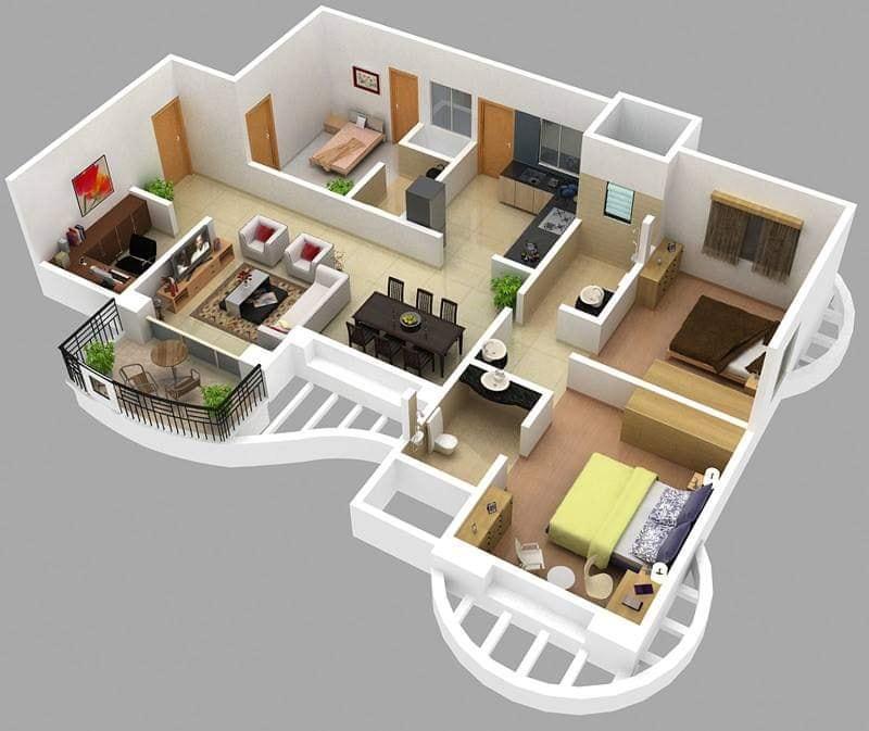 2bhk house plans