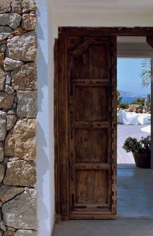 rustic wood door