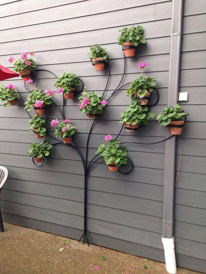 tree trellis wall decor
