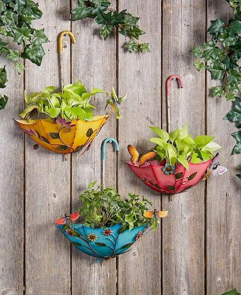 umbrella planter ideas