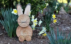 rustic wooden bunny