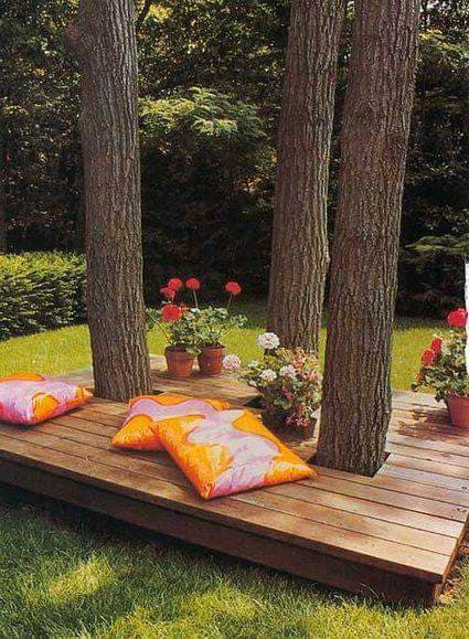 garden seating place