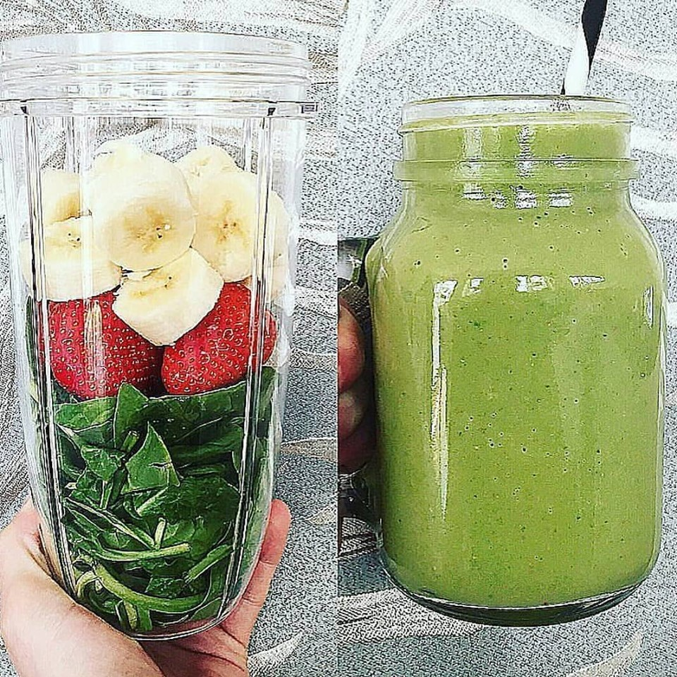 spinach and fruits