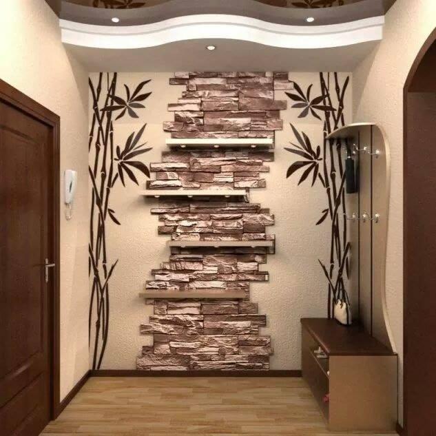 stacked bricks in interior design
