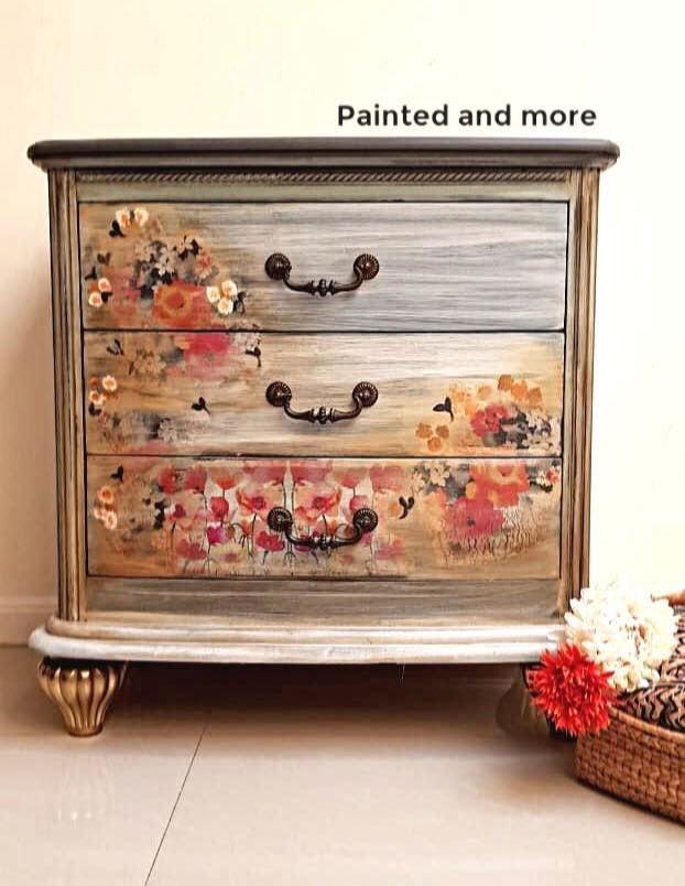 flowery dresser