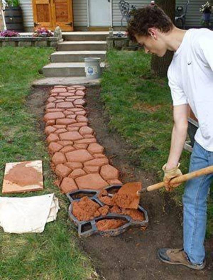 bricks pathway