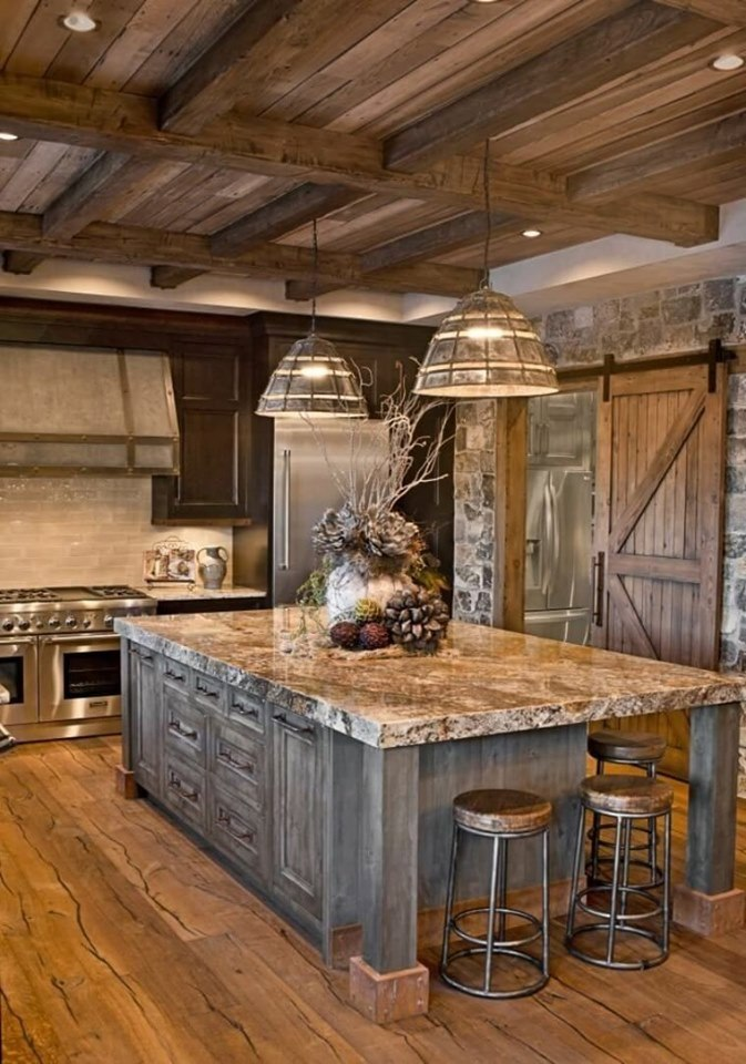 rustic wood interior