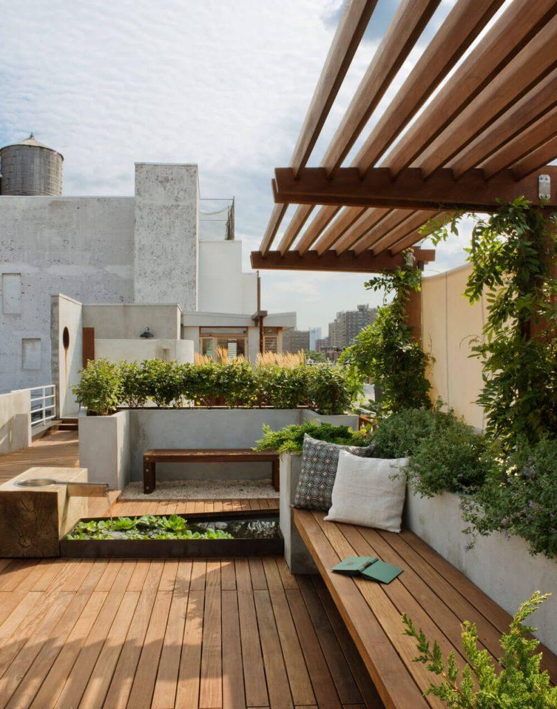 built-in planter