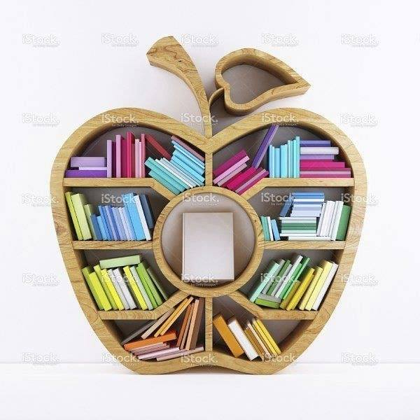apple shaped wall shelf