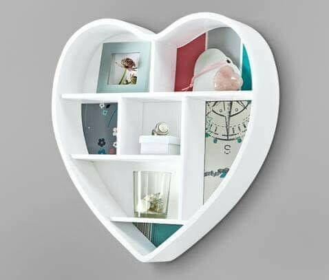 heart shaped wall shelf