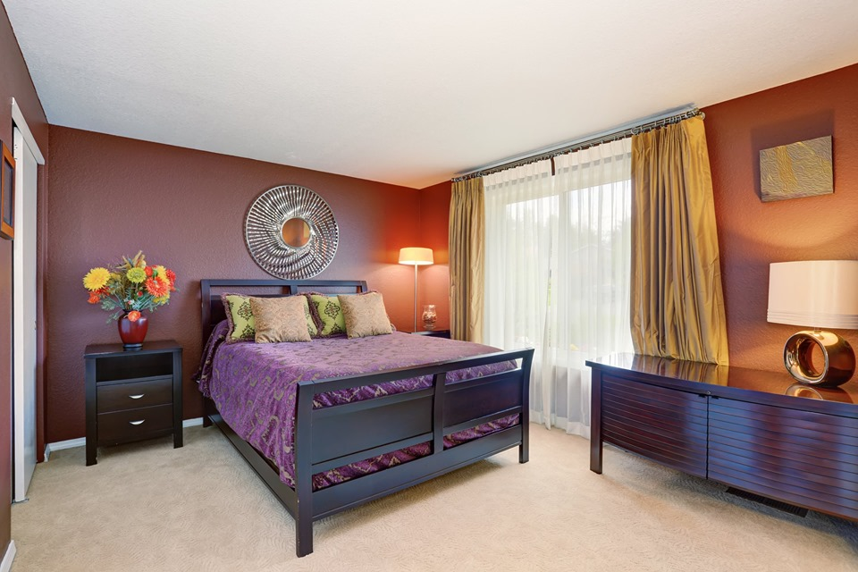 velvet in bedroom