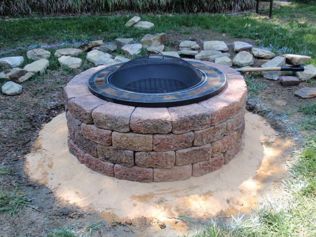 bricks firepit