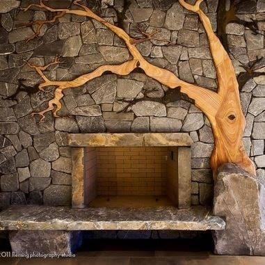 tree fireplaces