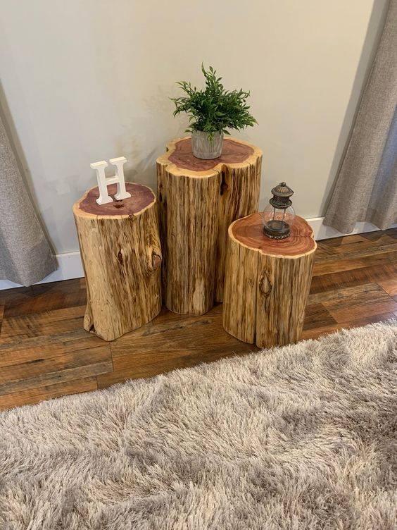 cedar log table