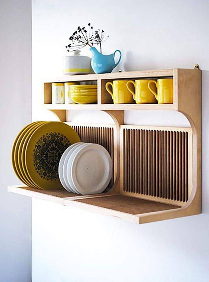 wooden dish washing racks