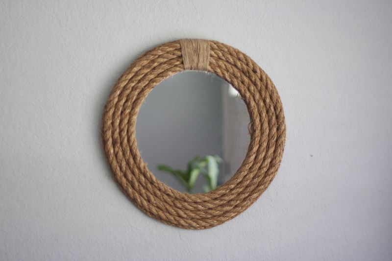rope mirror frame