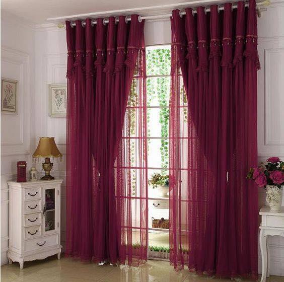 purple window treatment