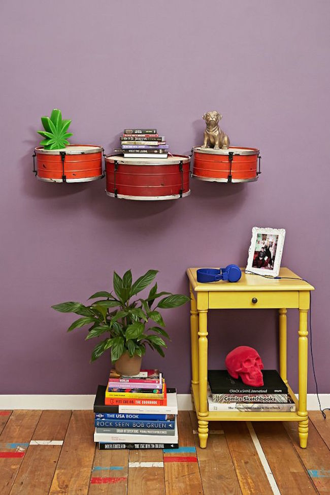 drums shelves