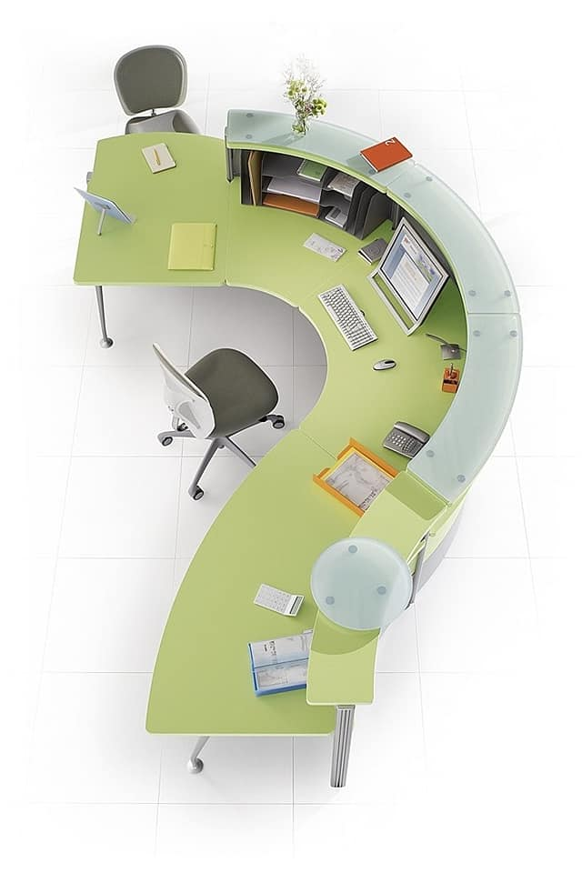 curved office room furniture