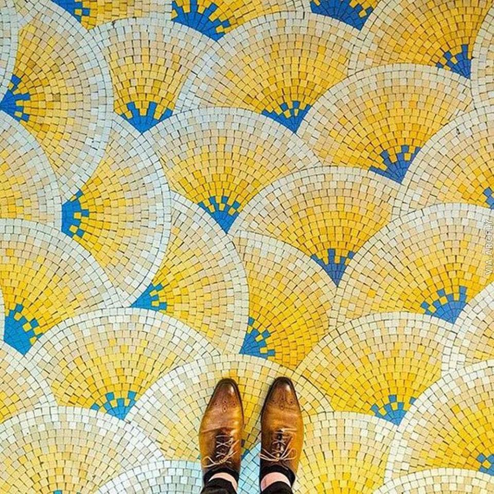 mosaic garden floor