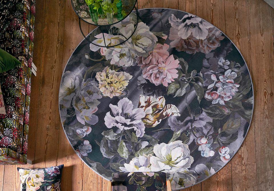 flowery rug