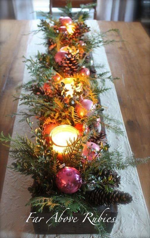 Christmas table centers
