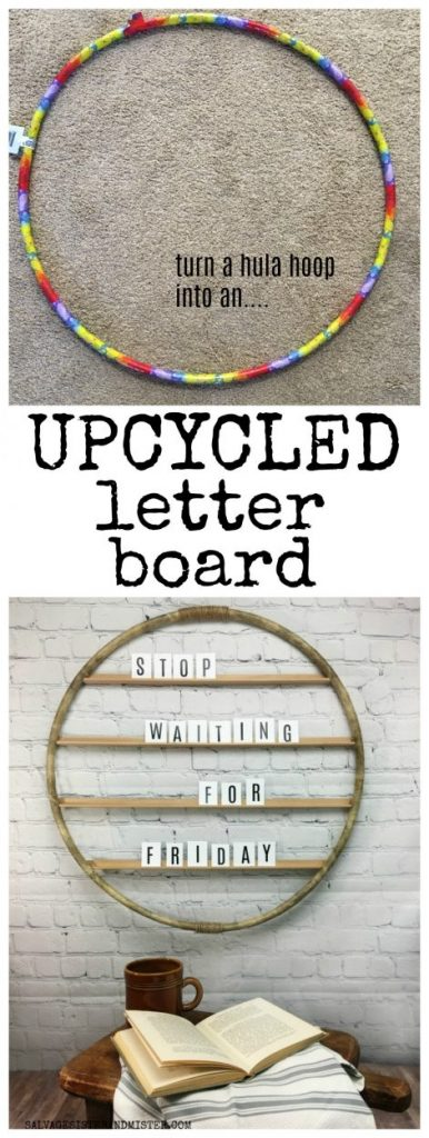upcycled letter board