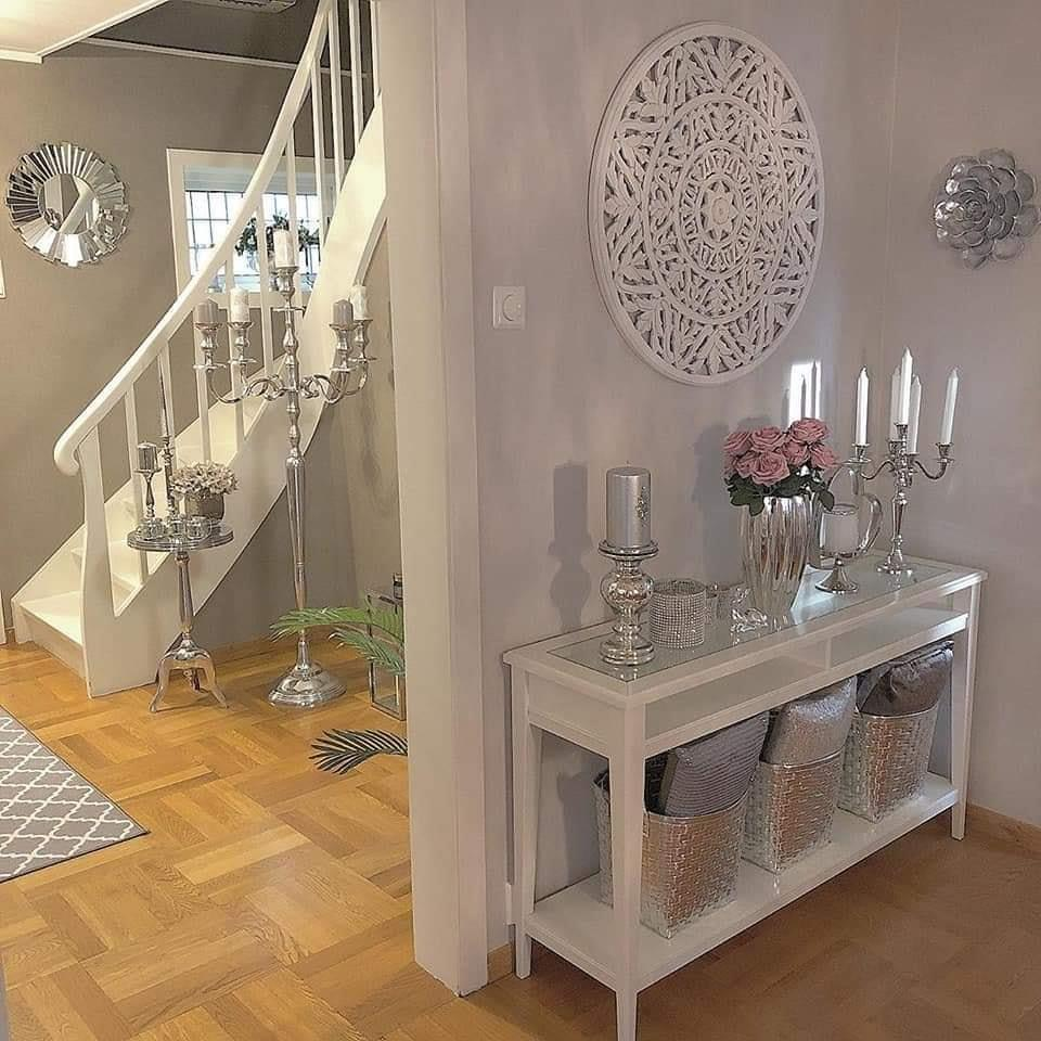 white and grey entryway